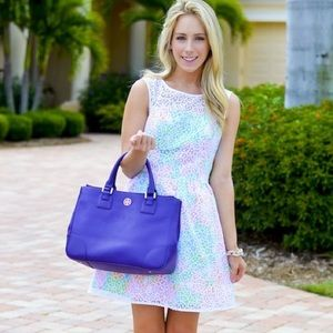 Lilly Pulitzer lace overlay dress 14
